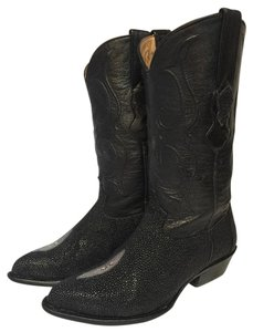 Los Altos Boots Black Snake with Leather Boots