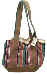 Aéropostale Cotton Canvas Reversible Stripe Tote in Multi