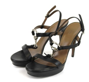 Gucci Leather Platform Sandal Black Sandals
