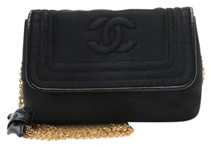 Chanel Vintage Leather Monogram Shoulder Bag