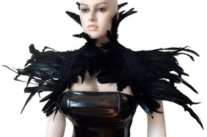AgaTha CouTure Collection Brand New Hand Designed Ostrich Feather Bolero (one size)