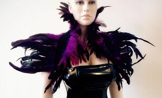 AgaTha CouTure Collection Brand New Hand Designed Ostrich Feather Bolero (one size) Image 3
