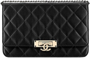 Chanel Boy Caviar Woc Golden Class Shoulder Bag