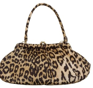 Banana Republic Evening Silk Chic Leopard Print Clutch