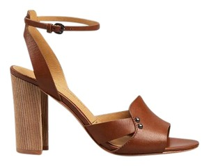 Sigerson Morrison Brown Leather Brown Pumps Studded Cognac Sandals