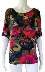 Etcetera Stretch Jersey Floral T Shirt Multi-color