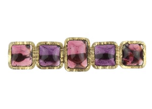 Chanel Vintage Purple Gripoix Brooch
