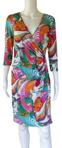 Laundry by Design short dress Multi-color Colorul Faux Wrap Cross Over Slinky on Tradesy