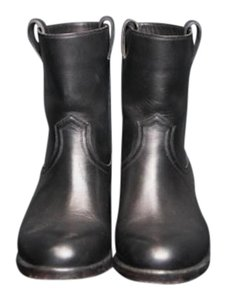 Sartore Leather Ankle Leather Black Boots