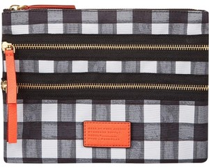 Marc by Marc Jacobs Brush Check Domo Arigato Triple Zip Cosmetic Travel Bag Pouchette