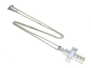Chopard Chopard Happy Diamonds 18k White Gold Cross Necklace