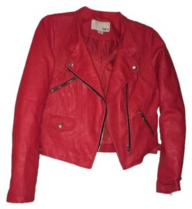 Bar III Edgy Faux Leather Red Jacket