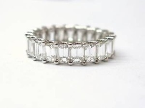 Fine Emerald Cut Diamond Eternity Band Ring 5.25ct