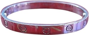 Cartier Cartier,18kt,Love,Bracelet,Bangle,White,Gold,Size,16,Ft5543