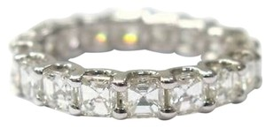 Fine,14kt,Asscher,Cut,Diamond,Eternity,Band,Ring,2.85ct,Wg,Sz4.5