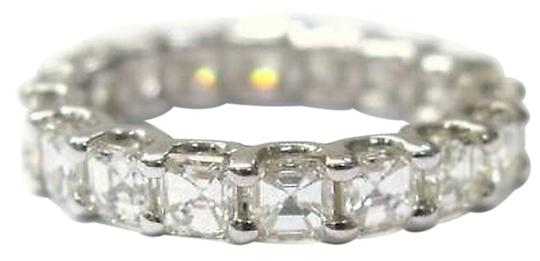 Other Fine,Asscher,Cut,Diamond,Eternity,Ring,3.60ct,White,Gold,14kt,Sz4.5