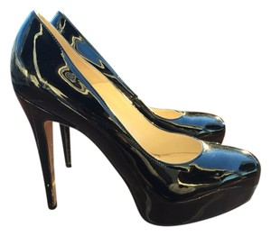 Brian Atwood Maniac Heels Patent Leather Black Pumps