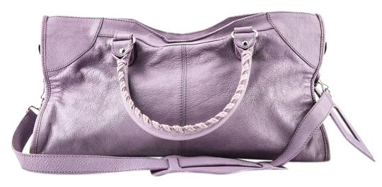 Balenciaga Town Satchel in PURPLE Image 0
