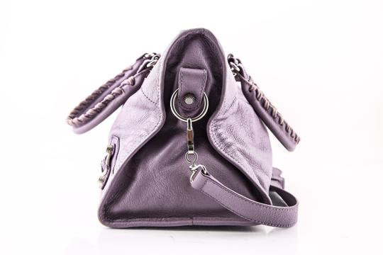 Balenciaga Town Satchel in PURPLE Image 2