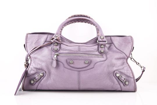 Balenciaga Town Satchel in PURPLE Image 3