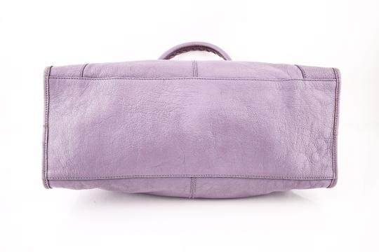 Balenciaga Town Satchel in PURPLE Image 4