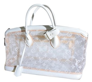 Louis Vuitton Limited Edition Lockit White Summer Speedy Lv Monogram Satchel in Transparent White