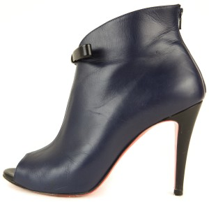 Christian Louboutin Navy & Black Boots