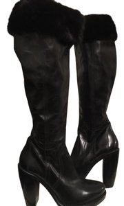 CoSTUME NATIONAL Leather Knee High New Never Worn black Boots
