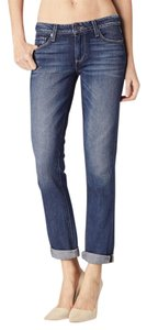 Paige Denim Denim Medium Wash Boyfriend Cut Jeans-Medium Wash