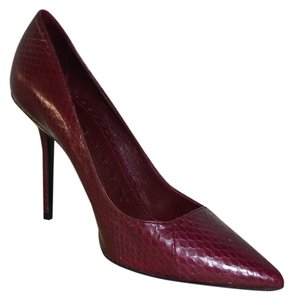 Burberry Python Python Burgundy Pumps