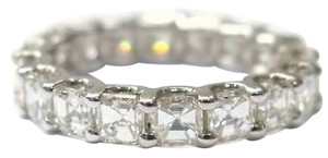 Fine,14kt,Asscher,Cut,Diamond,Eternity,Ring,3.15ct,White,Gold,Sz6