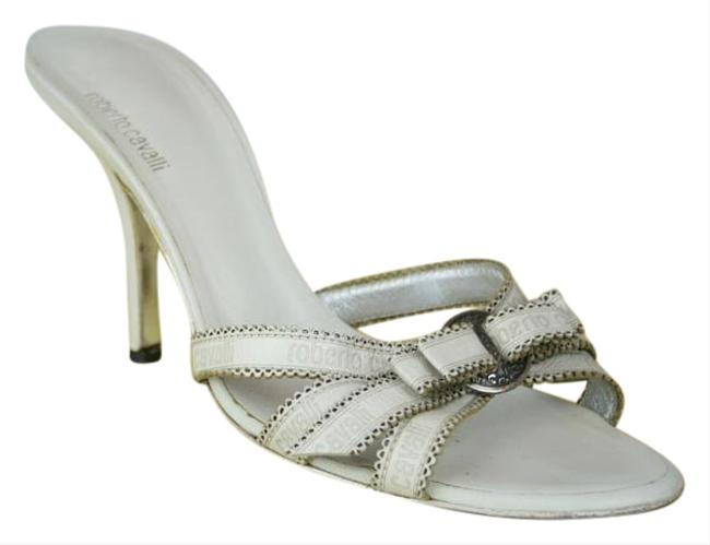 Item - White Sexy Leather Logo Strappy High Heels Sandals Size EU 39 (Approx. US 9) Regular (M, B)