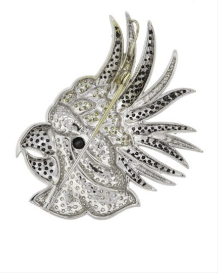 Other Gorgeous,Vintage,18k,White,Gold,Diamond,Parrot,Brooch