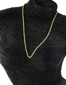 Gold Necklace * Gold Twist Chain Rope Textured Style Necklace.