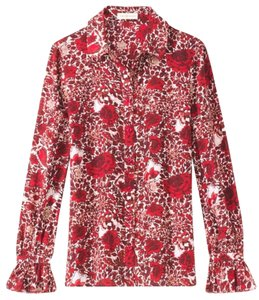 Tory Burch Button Down Shirt Red