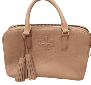 Tory Burch Satchel in Taupe/dusty Rose