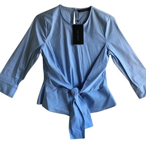 Zara Top Blue/white