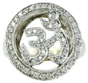 Diamonds White Gold Ring Indian Letter White Gold Diamond Ring
