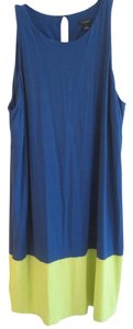 Ann Taylor short dress ROYAL BLUE AND LIME on Tradesy