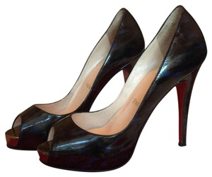 Christian Louboutin Grey, black, & blue Pumps