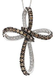 LeVian Levian chocolatier cross pendant necklace chocolate diamond with white gold chain