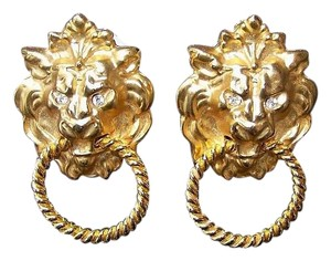 Lion Head Clip-On Earrings