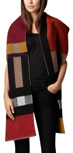 Burberry Burberry Colour Block Check Blanket Scarf New