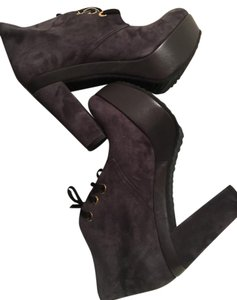 Giordana F. Suede Platform Made In Italy grey Boots