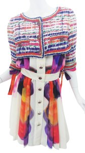 Chanel short dress Multi Color Tweed Silk Pavement Runway Couture Lesage on Tradesy