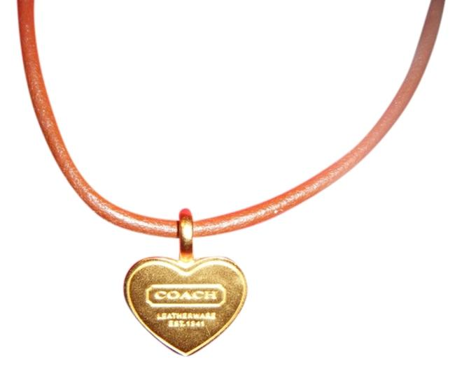 Item - Brown with Gold Heart Necklace