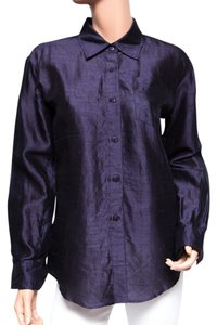 DKNY Silk Button Down Shirt P
