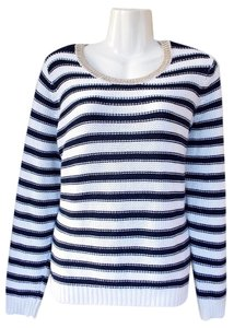 H&M Striped Scoop Sparkle Sweater