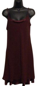 A.J. Bari short dress Burgundy on Tradesy