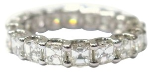 Fine,Asscher,Cut,Diamond,Eternity,Ring,3.45ct,White,Gold,14kt,Sz8.5